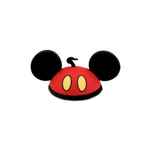 Medium disneystore mickey mouse red pants ear hat