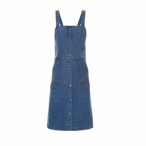 Medium avenue32 vanessa bruno athe blue denim elvire pinafore dress