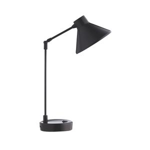 Medium habitat bobby black metal desk lamp