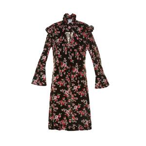 Medium matcheslondon vetements ruffle trimmed floral print dress