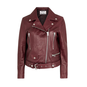 Medium harveynichols acne mock oxblood leather biker jacket