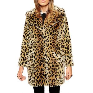 Medium asos faux fur coat in leopard
