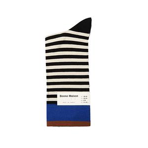 Medium bonne mason stripe socks