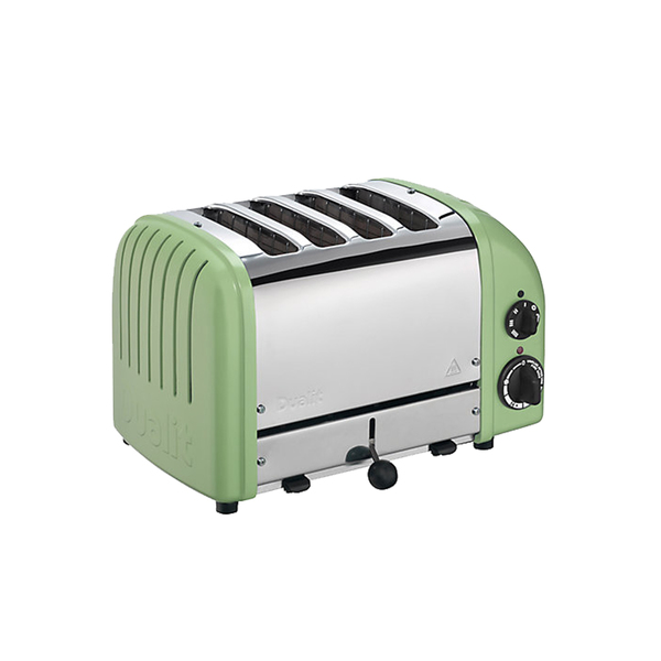 Large johnlewis dualit made to order classic 4 slice toaster  stainless steel pale green matt