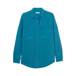 Medium equipment petrol signature washed silk shirt blue product 4 176434150 normal
