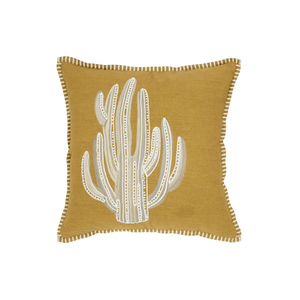 Medium yvesdelorme cushion cover square gracias safran