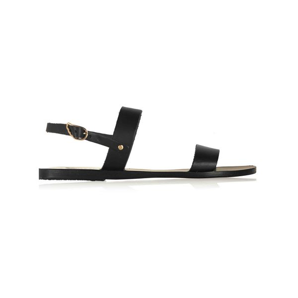 Large clio leather sandals