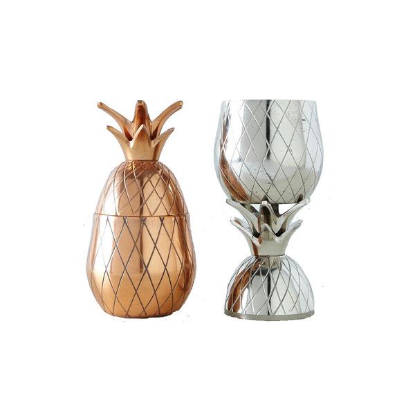 Large w p design metallic pineapple tumbler