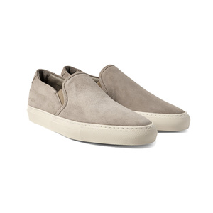 Medium common projectssuede slip on sneakers