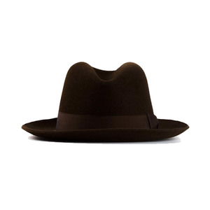 Medium   hermes vintage brown felt hat