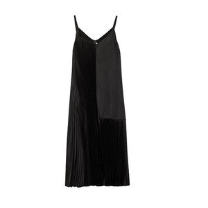 Medium christopher kane black plisse  satin dress