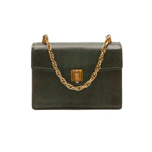 Medium rewind vintage gucci vintage lizard skin handbag