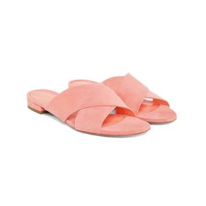 Medium suede flat crossover sandal mansur gavriel
