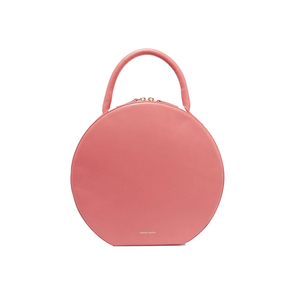 Medium pink circle leather tote mansur gavriel net a porter