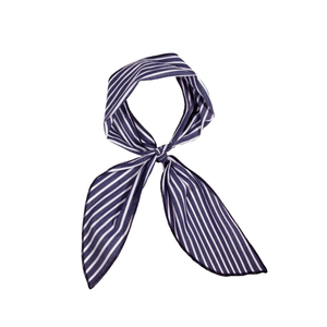 Medium donni gigi navy striped scarf donni charm