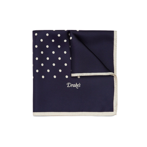 Medium drakes polka dot silk pocket square mr porter