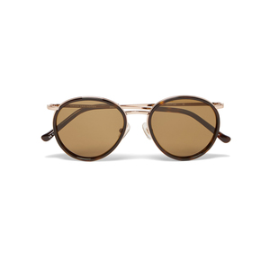 Medium dries van noten round frame tortoiseshell acetate and metal sunglasses mr porter
