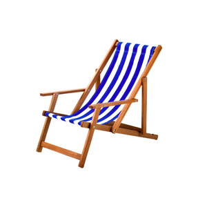 Medium southsea deckchairs armchair printed cotton houseology