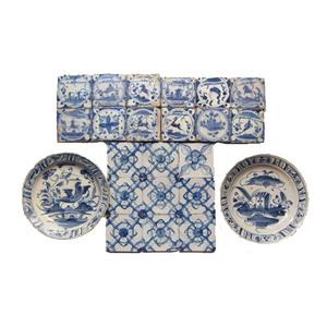 Medium azulejos de triana y del  marques de pombal  portugal  siglo xviii