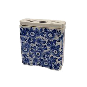 Medium delftblueshop brick flower rectangle blue large