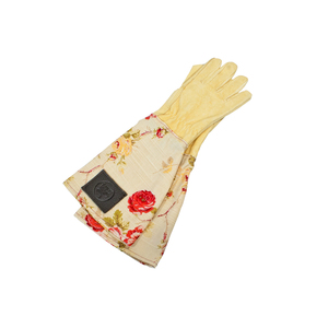 Medium haws leather gauntlet gloves rose  crocus