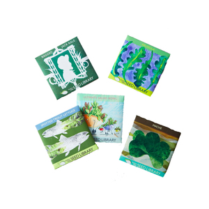 Medium heirloom seed art packets  greens and edible flowers  set of 5  the art of gardening food 52