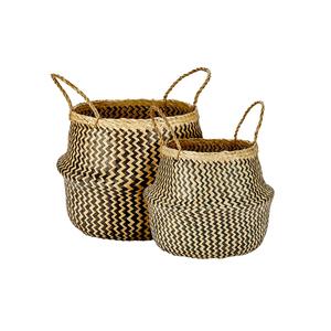 Medium murmur seagrass basket set of 2 houseology