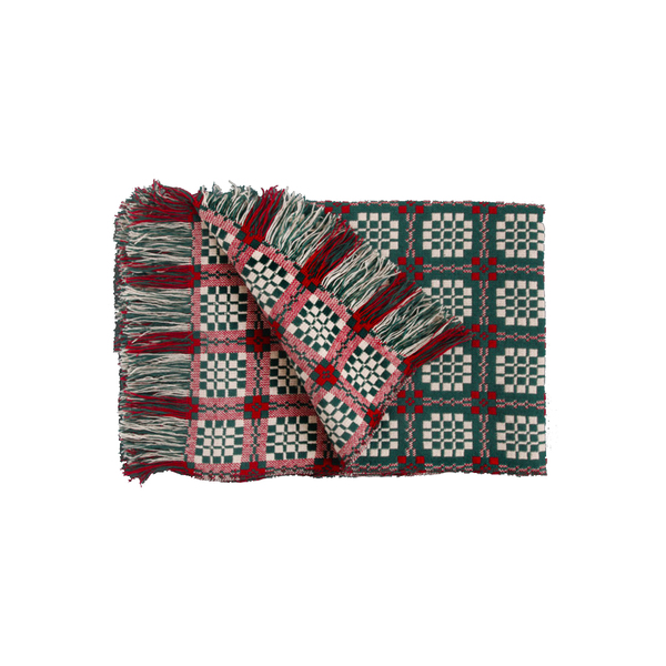 Large welsh tapestry blanket green trademark