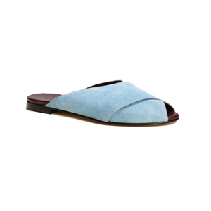 Medium trademark pajama sandal blue
