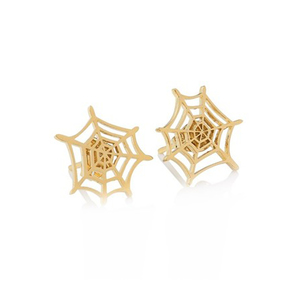 Medium  charlotte olympia   spider web earrings
