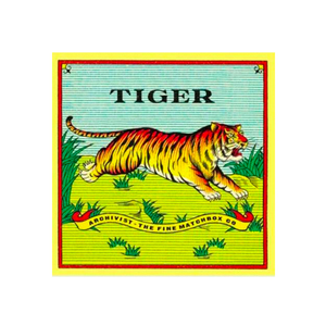 Medium tiger square box of large matches