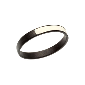 Medium inez van lamsweerde vinoodh matadin oxidized silver enamel ring prettymucheverything