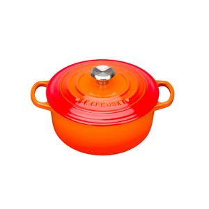 Medium le creuset signature cast iron casserole dish volcanic 20cm amara