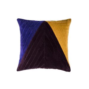 Medium velvet quilted triangle cushion cover