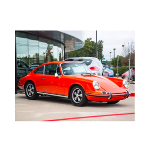 Medium porsche 911t 1971 coupe 2.2l engine tangerine car and classic
