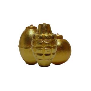 Medium piet houtenbos gold grenade oil lamps