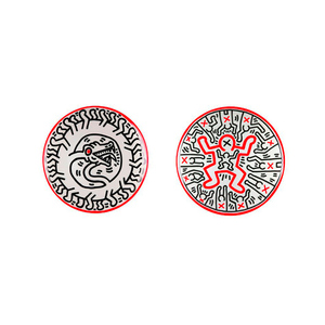 Medium keith haring plate set