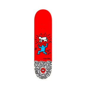 Medium keith haring red skate deck  2012