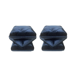 Medium cabana velvet pouf  in collaboration with dedar  made to order