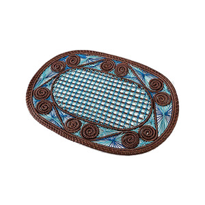 Medium creel and gow placemat  handmade in colombia