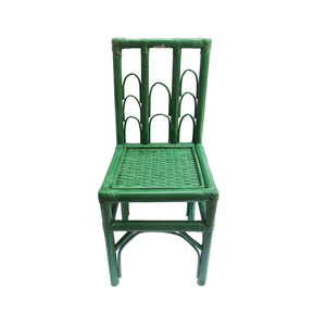 Medium handmade moroccan wicker chair with natural green dye