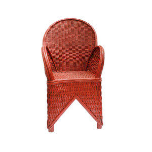 Medium red wicker chair  handmade in morocco