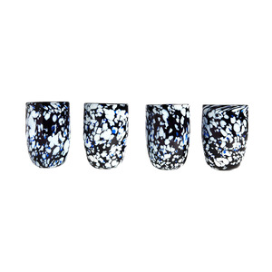 Medium set of four handblown cabana tumblers by laguna b.