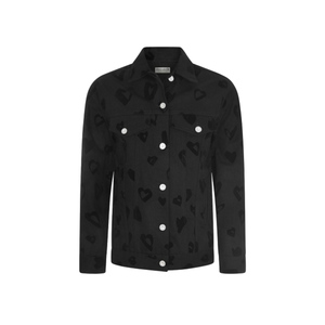 Medium etre cecile heart oversize denim jacket black