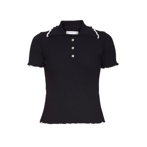 Medium jw anderson contrast edge ribbed jersey polo shirt matches