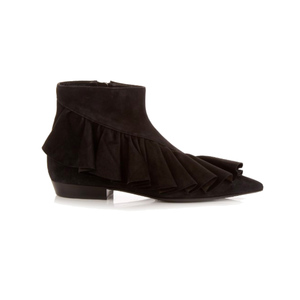 Medium jw anderson ruffled suede ankle boots
