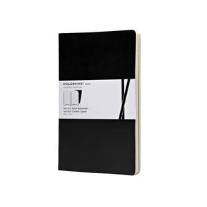 Medium moleskin large volant black ruled notebook selfridges