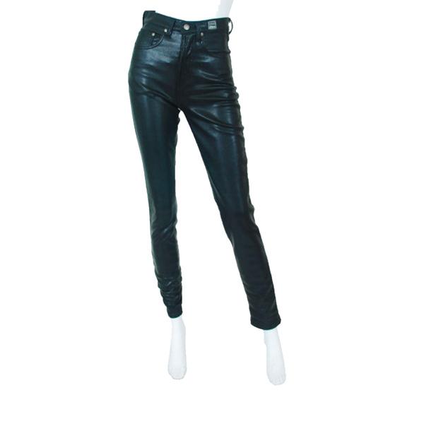 8e81785e1545 Versace - Couture vintage black metallic high waisted pants - Semaine