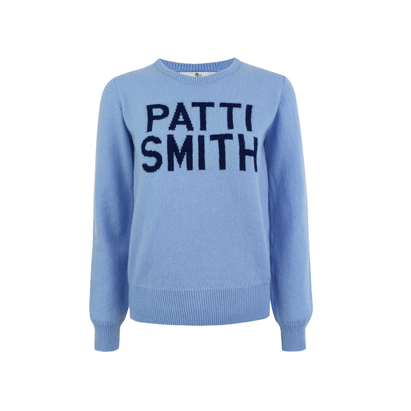 Large hades patti smith light blue knit