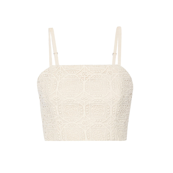 Large alice and olivia brentley crocheted cotton top